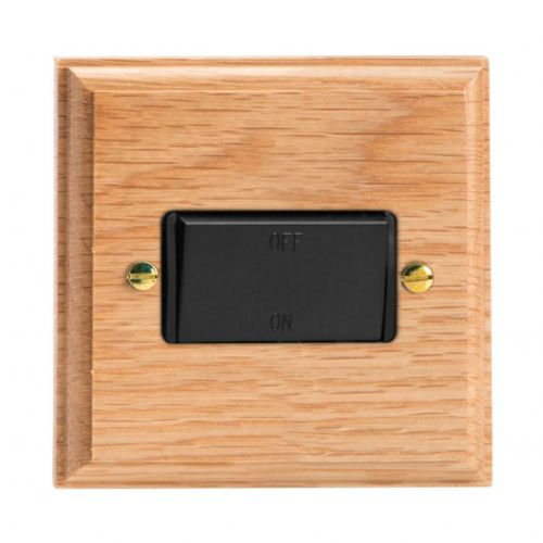 Varilight XKFIOB Kilnwood Oak 1 Gang 10A Fan Isolating Switch (3 Pole)